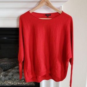Eileen Fisher Oversized Orange Merino Wool Sweater